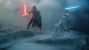 Star Wars Episode IX The Rise Of Skywalker Star Wars Movies Rain Kylo Ren Rey Rey From Star Wars Lig 2000x1359 wallpaper