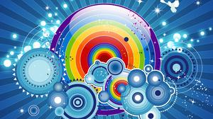 Abstract Circle Colorful Vector 3000x2321 wallpaper