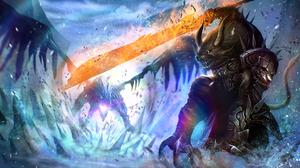 Armor Creature Dragon Fan Art Guild Wars Guild Wars 2 Horns Magic Video Game 2500x1406 wallpaper
