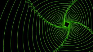 Digital Art Fractal Green Lines Spiral 7680x4320 Wallpaper