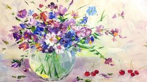 Flower Painting Vase 3206x2156 Wallpaper