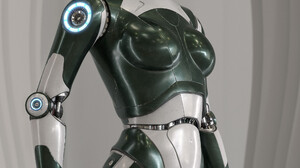 David Letondor Render Statue Machine ArtStation Robot Science Fiction Gynoid 2000x3113 Wallpaper