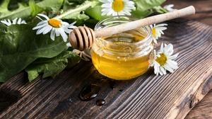Chamomile Honey Still Life 5760x3840 wallpaper