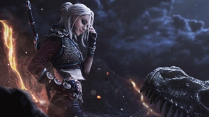 Ciri The Witcher Cosplay Model The Witcher 3 Wild Hunt White Hair Woman 3840x2560 Wallpaper