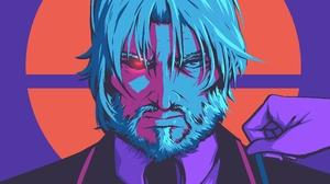 Angry Man Sebas Tian White Hair 3840x2160 wallpaper