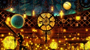 Boy Colorful Fantasy Light Magic Observatory Telescope 2560x1440 Wallpaper