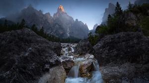 Nature Mountains Landscape Water Rock 2048x1152 Wallpaper