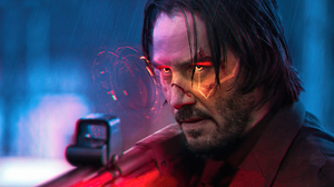 Keanu Reeves Cyberpunk 2077 Video Game Characters Video Games John Wick Fan Art Hologram 5120x2880 Wallpaper
