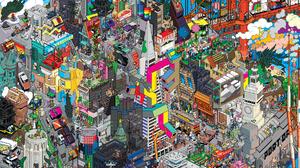 Pixel Art San Francisco 2372x1680 Wallpaper