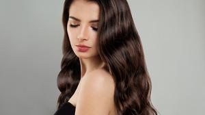 Curl Face Girl Long Hair Makeup Portrait 1920x1200 Wallpaper