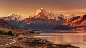 Aoraki Mount Cook Aotearoa New Zealand Sunset Glacier National Park Glacier Lake Pukaki Landscape Ro 1920x1280 Wallpaper