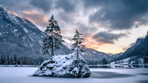 Nature Winter Landscape Cold Trees Sky Mountains Snow 2814x1876 Wallpaper