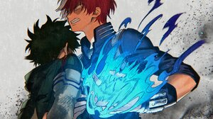 Izuku Midoriya My Hero Academia Shoto Todoroki 2607x2030 wallpaper