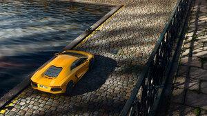 Car Lamborghini Lamborghini Aventador Sport Car Supercar Vehicle Yellow Car 2800x1343 Wallpaper