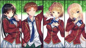 Honami Ichinose Kiky Kushida Kiyotaka Ayanok Ji Suzune Horikita Black Hair Boy Girl Red Eyes Brown H 4500x2510 Wallpaper