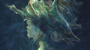 Anime Anime Girls Short Hair Water Sea Water Drops 4093x2894 Wallpaper