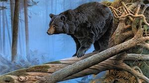 Artistic Painting Wildlife Predator Animal 2602x1718 Wallpaper