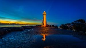 Lighthouse Night 4096x2596 Wallpaper