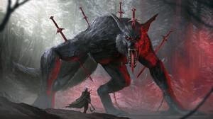 Nino Is Fenrir Sword Warrior Horror Creature 1920x1003 Wallpaper