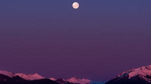 Landscape Nature Mountains Snowy Mountain Moon Vertical Portrait Display 1600x2000 Wallpaper