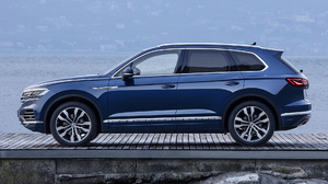 Blue Car Car Crossover Car Luxury Car Mid Size Car Suv Volkswagen Touareg 1920x1080 Wallpaper