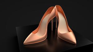 3D CG High Heels Render Crystal 3840x2160 Wallpaper