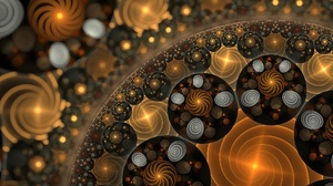 Artistic Digital Art Fractal Pattern Swirl 2560x1440 Wallpaper