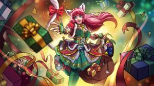 Paladins Video Game Maeve Paladins Christmas Cat Girl 1920x1080 Wallpaper