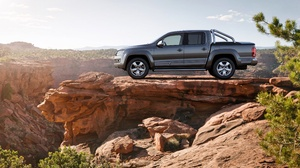 Car Pickup Silver Car Vehicle Volkswagen Volkswagen Amarok 4096x2731 Wallpaper