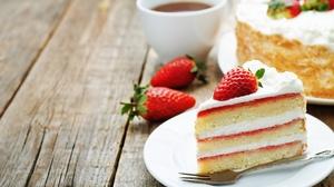 Strawberry Pastry Cake 4928x3264 Wallpaper
