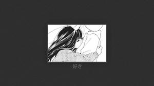 Anime Girls Love Minimalism 3840x2160 Wallpaper