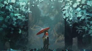 Digital Digital Art Artwork Drawing Digital Painting Painting Women Fantasy Girl Oriental Forest Umb 4000x2250 Wallpaper