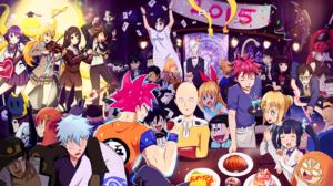Goku Saitama One Punch Man Yato Noragami Chitoge Kirisaki S Ma Yukihira Kaori Miyazono Koro Sensei S 3840x2160 wallpaper