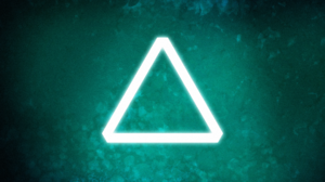 Triangle Green Menthol Glowing 3840x2160 Wallpaper