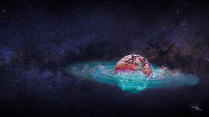 Space Planet Stars Sky Universe Galaxy 3840x2160 Wallpaper