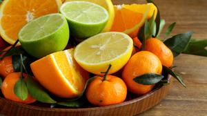 Orange Fruit Lime Lemon Mandarin 7000x4667 wallpaper