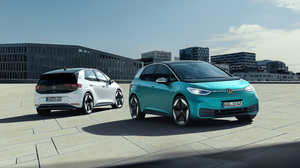 Blue Car Car Compact Car Electric Car Vehicle Volkswagen Volkswagen Id 3 White Car 6118x3543 Wallpaper