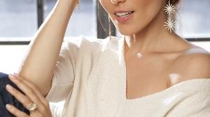 Sati Kazanova Women Singer Russian Russian Women Model Brunette Hand On Head Window Frames 2000x3000 Wallpaper