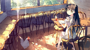 5 Nenme No Houkago Chair Chicken Dress Girl Long Hair Sunlight Sunshine Table 1920x1357 Wallpaper