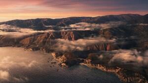 Aerial Apple Inc Big Sur Cloud Coastline Landscape Mountain Ocean 6016x5469 Wallpaper