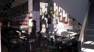 Girl Guitar Instrument 4000x2000 Wallpaper