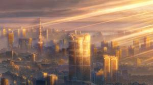Tenki No Ko Anime Sunlight Shadow Brightness Building Skyscraper City Tokyo Clouds Makoto Shinkai 1920x1080 Wallpaper