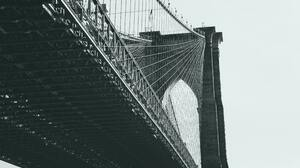 Brooklyn Bridge Bridge New York City Brooklyn Monochrome Architecture 5016x3344 Wallpaper