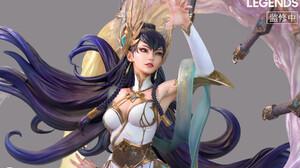 ArtStation Fantasy Art Fantasy Girl PC Gaming Video Game Art League Of Legends Purple Hair Long Hair 1800x1200 Wallpaper