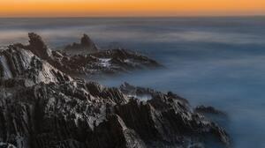 Montana De Oro Sunset Mountains Clouds Nature 5857x3905 Wallpaper