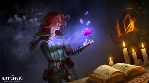 The Witcher The Witcher 2 Assassins Of Kings Triss Merigold Redhead Magic 1920x1080 Wallpaper