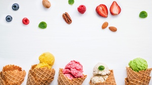 Ice Cream Still Life Waffle Cone 5616x3508 Wallpaper