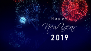 Fireworks Happy New Year New Year 2019 Night 1920x1080 Wallpaper