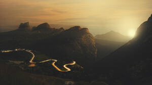 Matteo Sciarra Landscape Road Sunlight Cliff Sky Horizon Bright Trees 2024x1350 Wallpaper