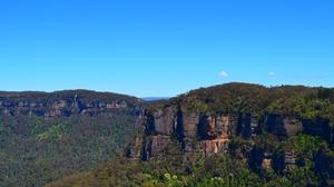 Australia Blue Mountains Cliff Forest Katoomba Mountain Rock Tree 1920x1200 Wallpaper